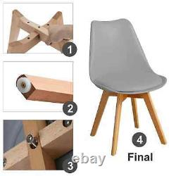 Dining Chairs Retro Solid Wooden Legs Kitchen Room Tulip Chair Study Desk Chair