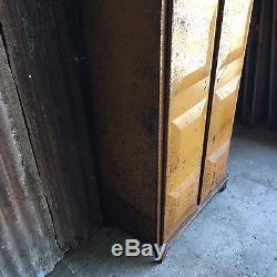 Double Industrial Lockers Retro Vintage Upcycled Funky 2 Door Storage Embossed