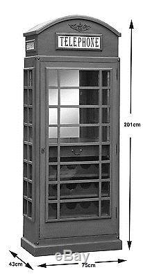 Drinks Cabinet Telephone Box in retro style