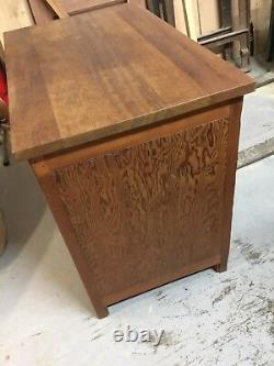 Dryad Of Leicester Arts And Crafts Wooden Cupboard Retro Vintage Kitchen Island