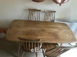 Ercol Elm Vintage Dining Table and 4 Chairs