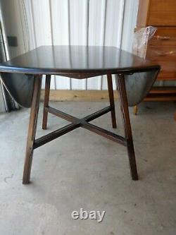 Ercol Vintage Retro Drop Leaf Space Saving Extending Dining Kitchen Table
