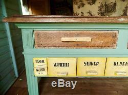European retro cabinet shabby chic antique vintage shop kitchen utility counter
