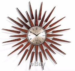 Extra Large Newgate Gold Funky Unusual Chic Retro Vintage Star Modern Wall Clock
