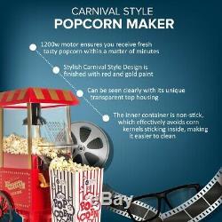FAT-FREE HOT AIR CARNIVAL POPCORN MAKER POPPER MACHINE RETRO 30's STYLE