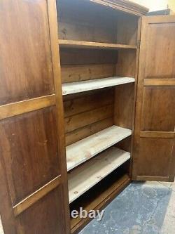 Fabulous Vintage Pine Narrow Tall Kitchen Housekeepers School Cupboard