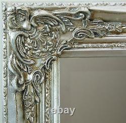 Florence Large Silver Leaf Leaner Full Length floor Wall Mirror 163cm x72cm