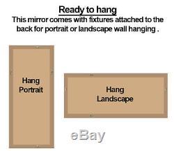 Fraser Leaner FULL LENGTH floor MIRROR wall hung OAK effect 60x25 152 x 63cm
