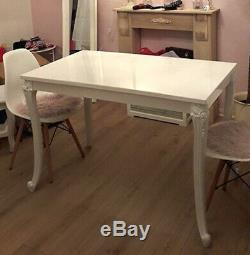 French Style Dining Table Kitchen Dining Room Vintage Retro Furniture Rectangle
