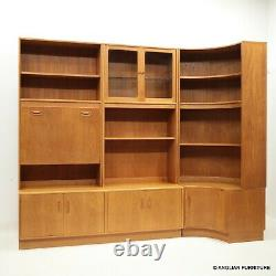 GPlan Teak Wall Unit and Corner Unit 5 Sections Drinks Section FREE UK Delivery