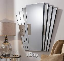 Gatsby Extra Large Vintage Art Deco Style Retro Overmantle Wall Mirror 39 x 39