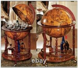 Globe Wine Bar Cabinet Drinks Container Bottle Storage Birthday Wedding Gift UK