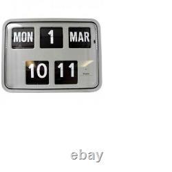 Grayson Grey Digital Retro Calendar Wall Flip Clock Bank Shop BNIB G231