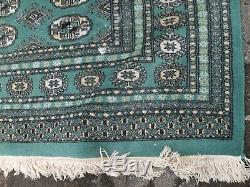 Green very large antique vintage rug carpet wool 325 cm x 260 pers ian bak-ora