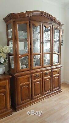 Harrods Glass Display Cabinet, cupboad, Dresser. Wooden, antique, vintage furniture