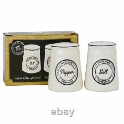 Heart Of The Home Salt And Pepper Shaker Pots Condiment Dispensers Set