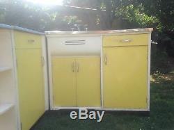 Hygena Kitchen Sink Corner Unit Vintage Retro 1960's
