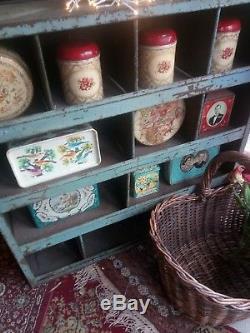 INDUSTRIAL STORAGE vintage METAL retro MID CENTURY bookshelf KITCHEN