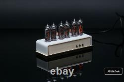 IN-14 NIXIE TUBE CLOCK ASSEMBLED WOOD ENCLOSURE AND ADAPTER 6-tubes by MILLCLOCK