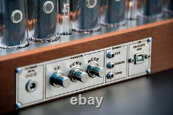 IN-18 NIXIE Tubes Clock Divergence Meter GPS Sync 12/24H FREE Shipping 3-5Days