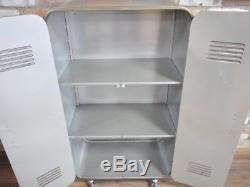 Industrial 2 Door Metal Cabinet Vintage Locker Cupboard 3 Shelves Storage Unit