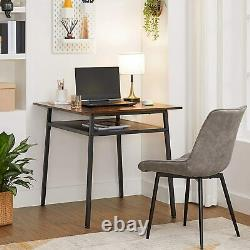 Industrial Dining Table Small Vintage Furniture Rustic Metal Kitchen Breakfast