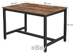 Industrial Dining Table Vintage Retro Furniture Rustic Metal Kitchen Breakfast