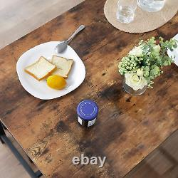 Industrial Dining Table Vintage Retro Rustic Kitchen Furniture Breakfast Dinner
