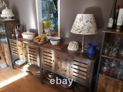Industrial Kitchen Dresser Vintage Storage Sideboard Rustic Pantry Cabinet Unit
