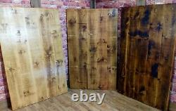 Industrial Live Edge Dining Table and Bench Set Reclaimed Vintage Kitchen Table
