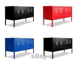 Industrial Metal Cabinet Garage Storage Unit Tool Locker Cupboard Rack Shelves