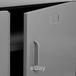 Industrial Metal Cabinet Urban Loft Metal Storage Unit Garage Locker Room Grey