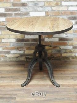 Industrial Reclaimed Retro Vintage Wood Metal Iron Kitchen Dining Table (d4493)