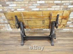 Industrial Retro Vintage Reclaimed Metal Dining Kitchen Console Table (d4642)