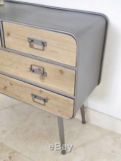 Industrial Retro Vintage Reclaimed Metal Wood Cabinet Sideboard (d3989)