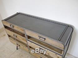Industrial Retro Vintage Reclaimed Metal Wood Cabinet Unit Sideboard (d3962)