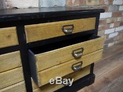 Industrial Retro Vintage Reclaimed Wood Metal Low Sideboard Kitchen (d3980)