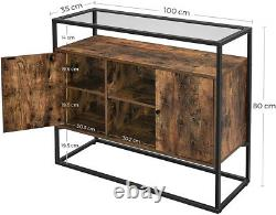 Industrial Style Console Table Vintage Side Cabinet Sideboard Hallway Kitchen