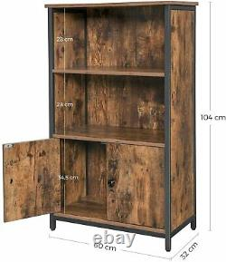 Industrial Style Cupboard Vintage Cabinet Low Kitchen Pantry Rustic Storage Unit