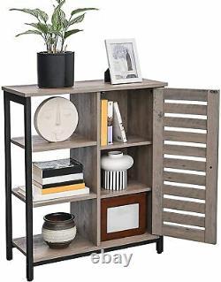 Industrial Style Storage Cabinet Cupboard Unit Small Sideboard Vintage Grey