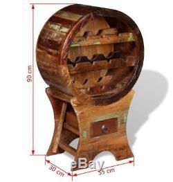 Industrial Style Wine Rack Vintage Rustic Furniture Solid Wood Storage Cabinet