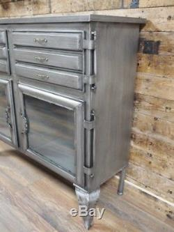 Industrial Vintage Antique Cabinet Cupboard Sideboard Unit Chest Of Drawers Z