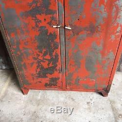 Industrial Vintage Lockers, Upcycled Distressed Retro Storage Cupboard Wardrobe