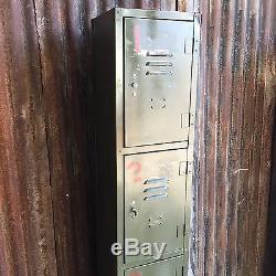 Industrial Vintage Lockers Upcycled Factory Funky Retro 4 Door Workshop Person