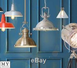 Industrial Vintage Retro Factory Kitchen Hallway Chrome Copper Pendant Lights