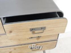 Industrial chest retro urban vintage 4 drawer chest sideboard cabinet 89cm wide