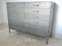 Industrial sideboard Dalvanized 12 drawer chest retro urban vintage cabinet