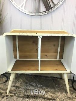 Industrial vintage retro cream metal sideboard Cupboard unit cabinet storage