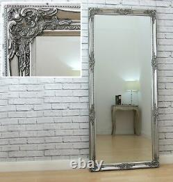 Isabella Full Length Silver Shabby Chic Leaner Wall Floor Mirror 163cm x 72cm