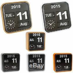 Karlsson Big Flip & Mini Flip Retro Wall Clocks with Day, Date, Year & Time